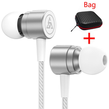Original Earphone KZ ED2 Stereo Headsets Bass HIFI Metal Earpods with Microphone for Mobile Phone Airpods original kz ed2 earphone in ear metal hifi stereo super bass headset professional noise cancelling microphone earbuds for phone