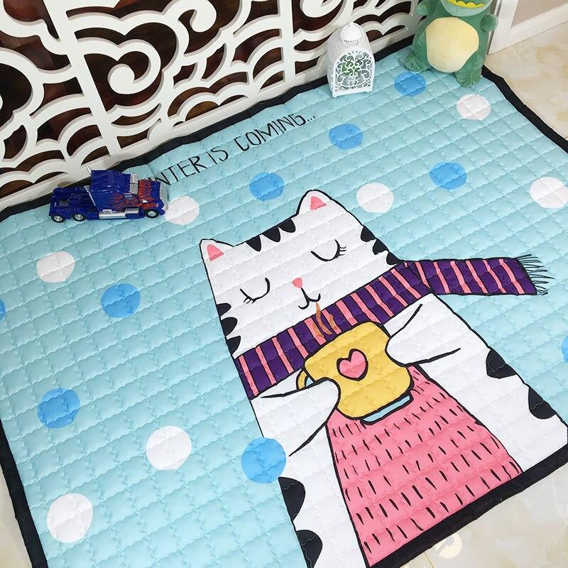 Tapis de jeu de bébé de bande dessinée épaissir le tapis de sol antidérapant pour le salon tapis de chambre d'enfants tapis de couverture rampant écologique de bébé