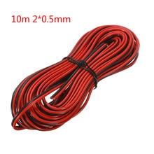 Câble de haut parleur 5/10m câble de base Audio 2*0.3mm/2*0.5mm pour système Audio HiFi/voiture stéréo à domicile rouge et noir