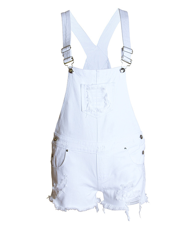 HCYO Hot Fashion Clothes Women Cotton Denim Playsuits White Loose Overalls Back Hole Rompers Loose Casual Female Short Tracksuit (3)