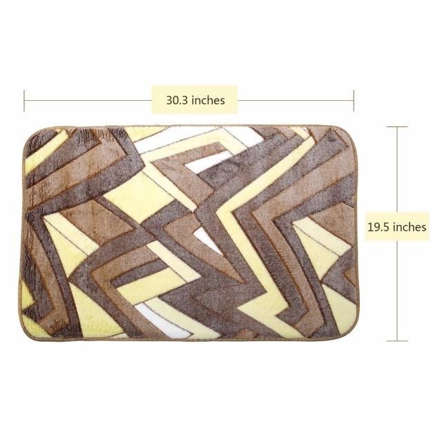 2 pz bagno tappetino da bagno set antiscivolo 45x50 cm e 50x80 cm/17.71x19.68in e 19.68x31.49in