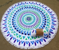 Hot Sale 2016 New Summer Large Printed Round Beach Towels With Tassel Circle Beach Towel