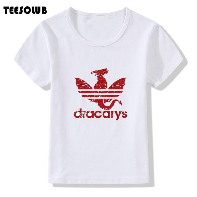 ילדי חולצה קריקטורה משחק של הכס Dracarys הדפסת ילדים T חולצת קיץ חולצות ילד ילדה קצר שרוול תינוק בגדי Camiseta