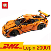 In Stock Lepin 20001 20001B 20086 technic series Race Car F1 Formula Bugatti Cars Building Kits Blocks Bricks Children Toy Gift