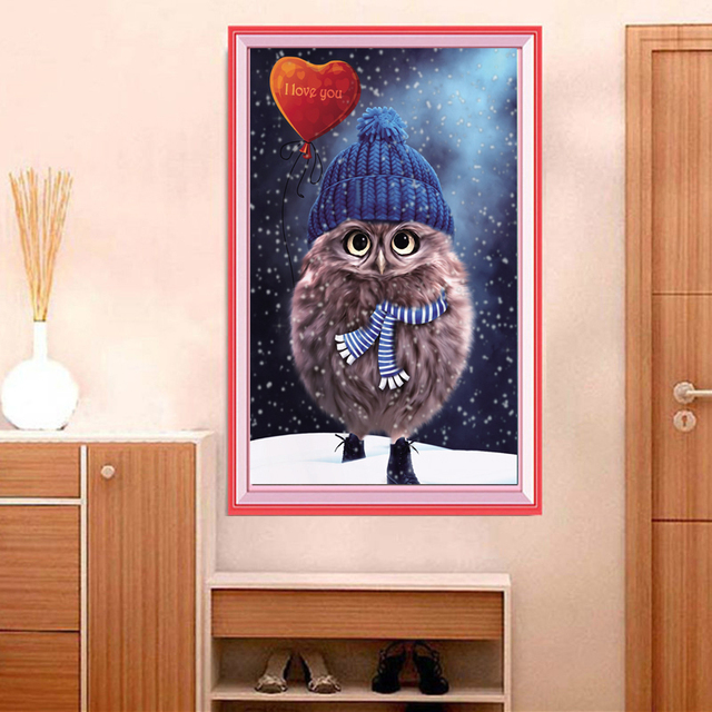 Cute Owl Painting (No Frame)