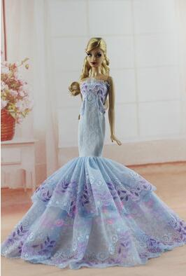 case for barbie clothes Romantic Floral Princess Dresses Beautifully wedding dress Girl Princess Birthday Gift