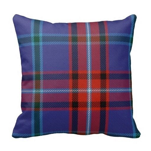 Beautiful Glenn font b Tartan b font Pillow Case Size 20 by 20 Free Shipping