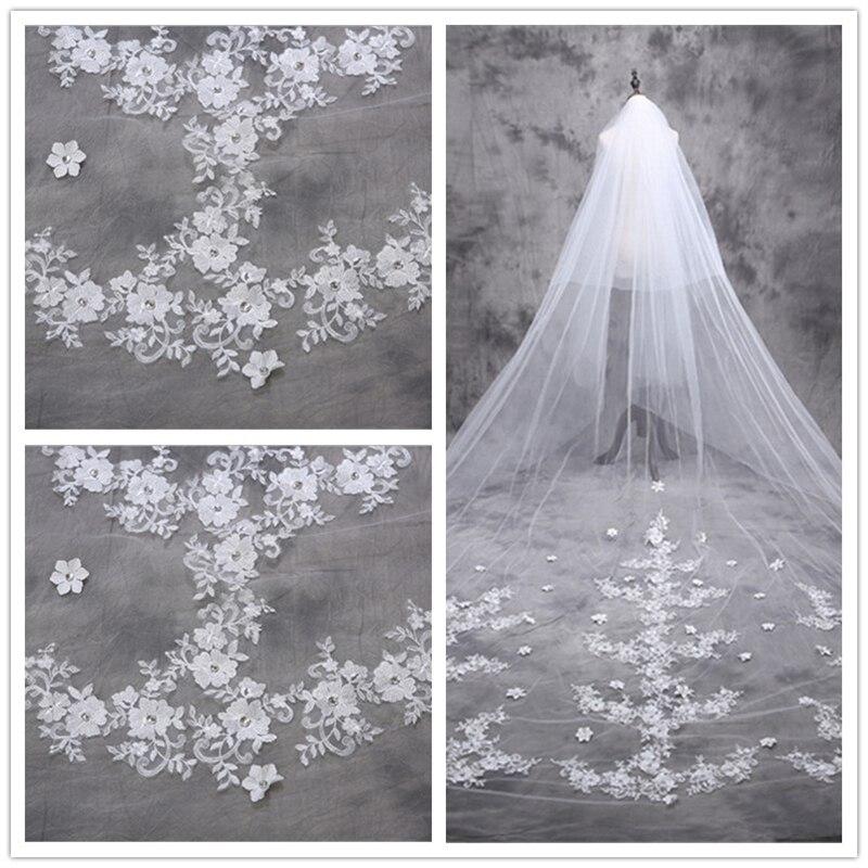 Голова невесты марля, рисовое белое кружево, более 5 метров длинная пряжа, Корейская принцесса хвост лепестки Длинная фата