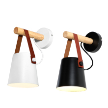 American retro rural creative Nordic simple corridor study bedside cafe TV wall iron belt lamp