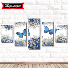 DIY 5D Diamond Painting Cross Stitch Mosaic Embroidery Needlework Pattern Rhinestone Paintings Butterfly Canvas