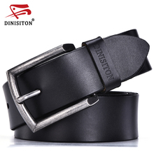 DINISITON 2017 Designer Vintage Belts Men High Quality Cow Genuine Leather Luxury Men Jeans Belt Brand Strap Male Pin Buckle
