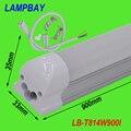 T8 интегрированы СВЕТОДИОДНЫЕ трубки 3ft 900 мм молочно крышка прозрачная крышка доступны 14 Вт лампа поставляется с аксессуар легко установить 85-277 В
