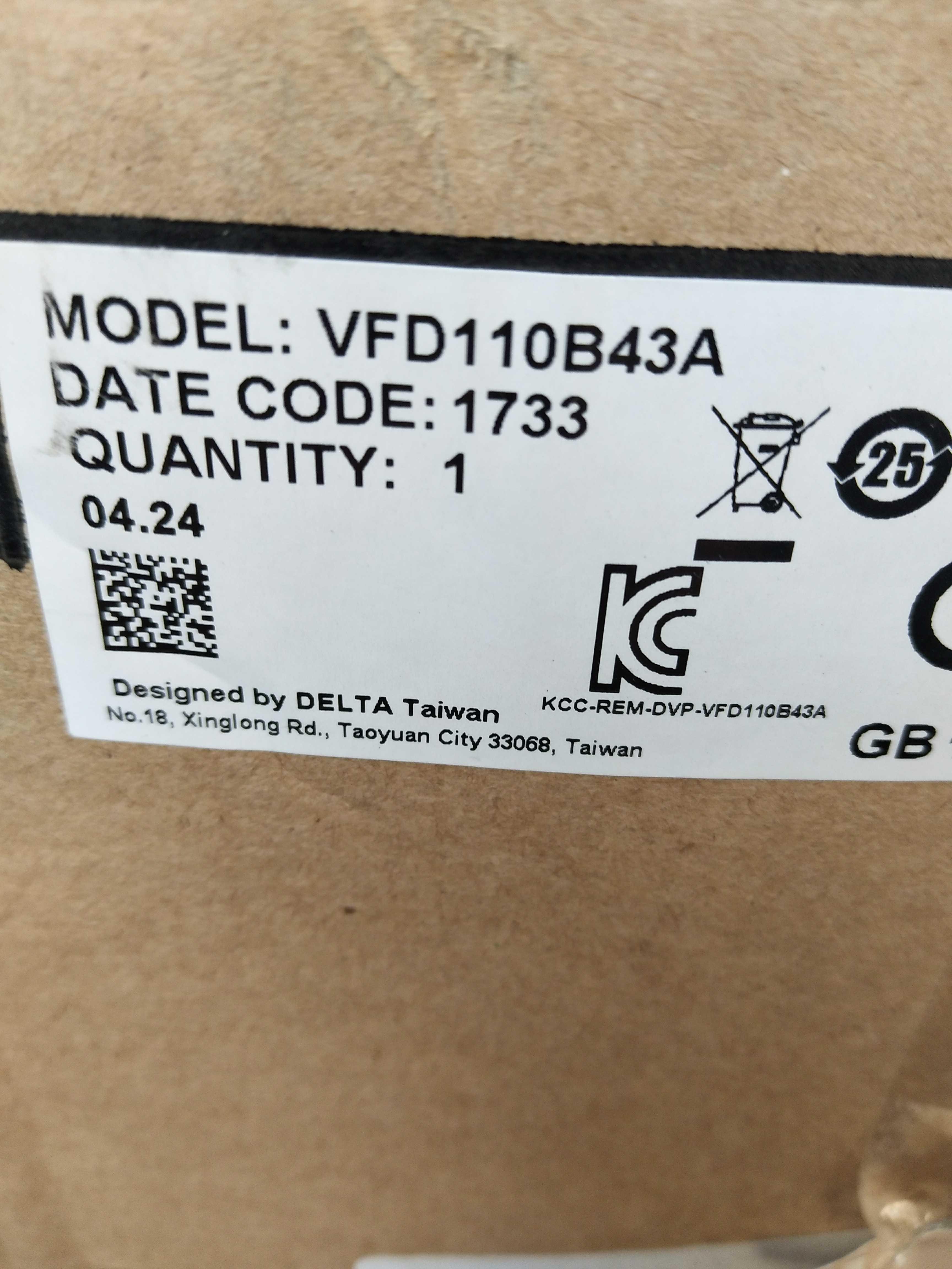 New Original Genuine VFD-B 11KW Inverter VFD110B43A