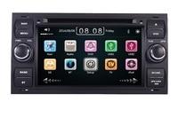 В наличии два Din 7 дюймов dvd плеер автомобиля для Ford Focus транзитных Kuga с 3 gps навигации радио Bluetooth руль Управление
