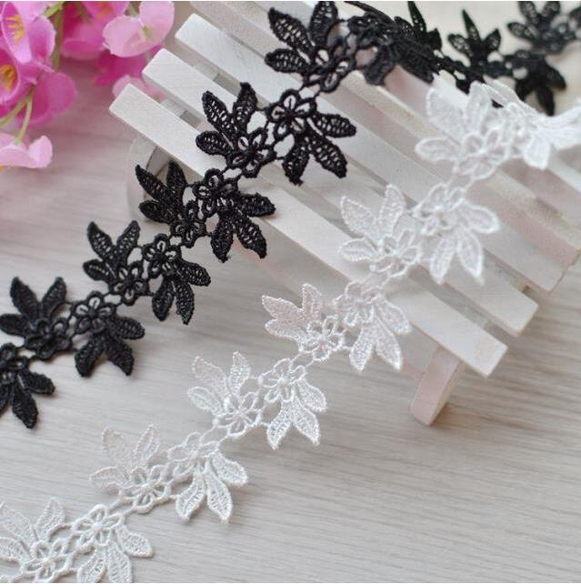 5 Meters Lot Embroidery Black White Lace Trim For Clothing Decoration 4cm New Style