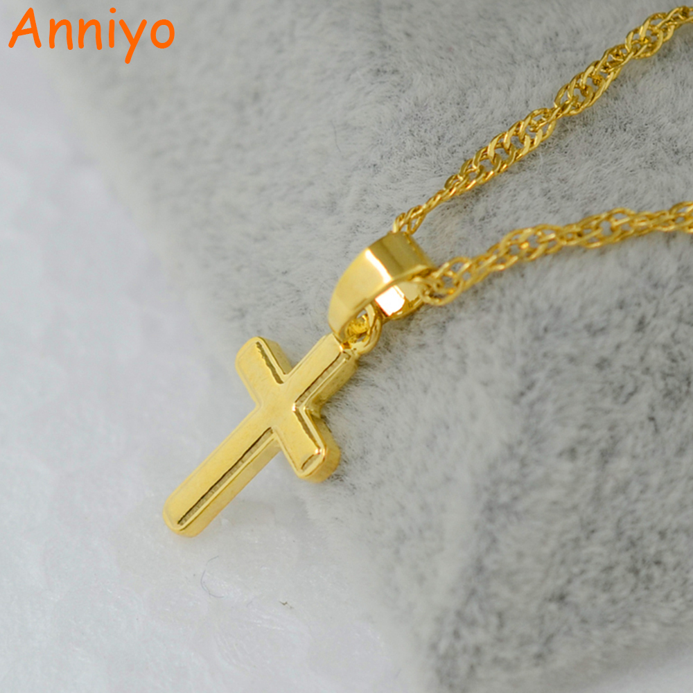 Anniyo Small cross pendant necklace