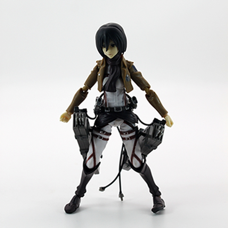 Anime Attack On Titan Shingeki No Kyojin Mikasa Ackerman PVC Figma Action Figure for christmas gift  недорого