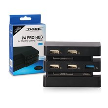 HAOBA For PS4 Pro Accessories Play Station 4 Host USB Hub 3.0 & 2.0 Port Game Console Extend Adapter