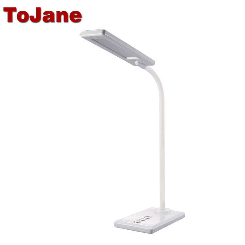 ToJane TG905 5-Level Brightness&Color Led Desk Lamp Led Table Lamp 8W Led Reading Desk Light Lamp super bright led desk lamp 15w slide control metal table lamp 6 level brightness 6 color modes adjustable reading lights
