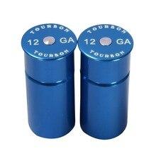 Tourboa tampas de espingarda, 12 medidores de caixas de treinamento tático reutilizáveis 2 azuis para tiro, arma acessórios de caça