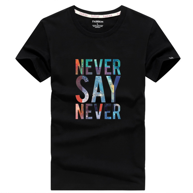 2019 New Fashion Men's T-shirt Short-sleeved Round Neck Letter Printing Cotton Men's T-shirt Casual Boy T-shirt Top