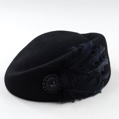 Feather Wool Beret Hat...