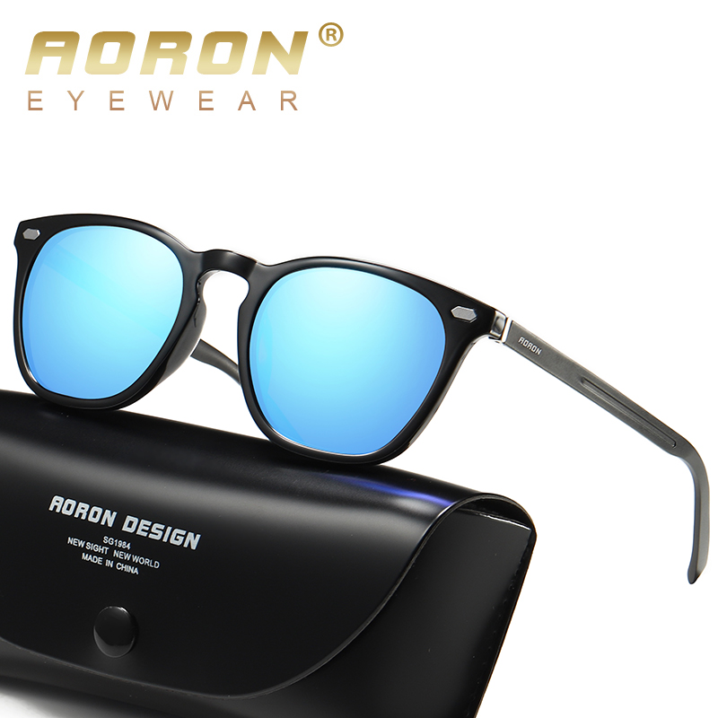 AORON Polarized Sunglasses Men /Women Classic Fashion Sun Glasses TR Frame Aluminum Magnesium Leg UV400 Sunglasses