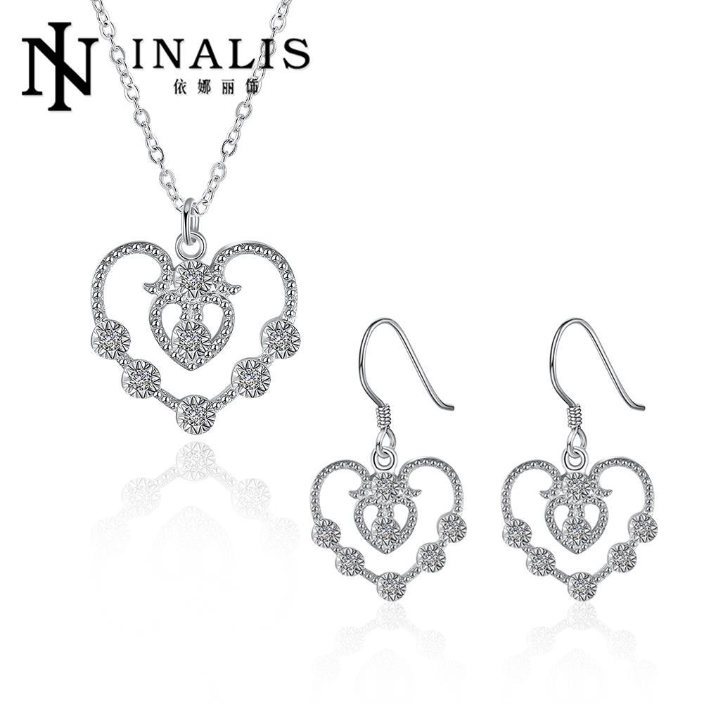 438b3f1be189 Joyería al por mayor plata 925 Collares y Pendientes del día de tarjeta del  Día de San Valentín regalos nupciales s887