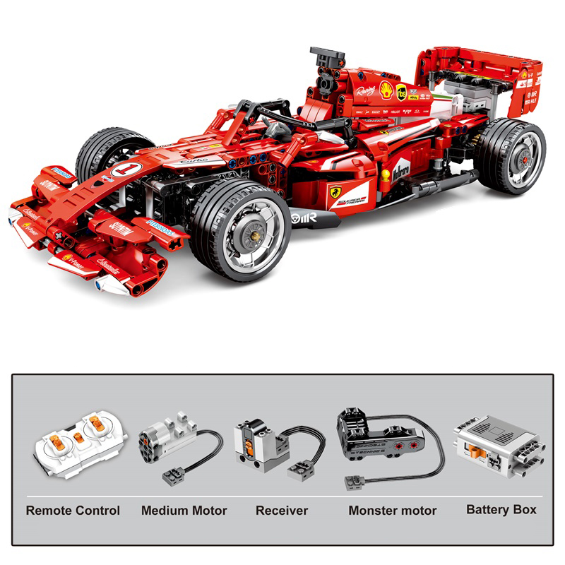 New <font><b>701000</b></font> Technology Series Remote Control Ferraried FRR-F1 Formula Racing Car Building Blocks bricks toys Birthday Gifts Kids image