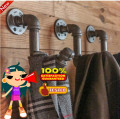 3 Pcs American Country Piped Coat Racks Retro Loft Industrial Clothing Hooks Industry Iron Pipe Coat Hook -Z42