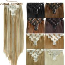 Fake resistant false heat extension synthetic extensions natural clip in straight