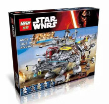 LEPIN 1022pcs Star Wars Captain Rex's AT-TE 75157 Building Blocks Compatible with LEGOe STAR WARS Toy 05032 Boys Toys Gift