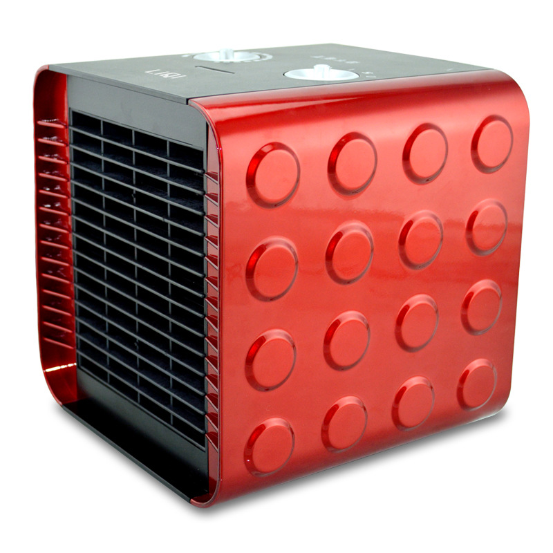 220 V Mini 3 vitesses Portable muet électrique ventilateur chauffage Cube forme électrique froid et chaud ventilateur double usage bureau cadeau