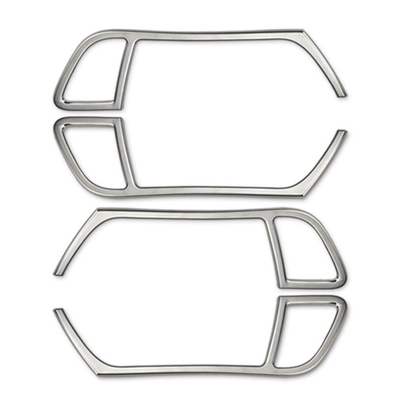 4 pièces Chrome style intérieur poignée de porte couverture garniture décorative pour Audi A4L A5, accessoires de voiture de mode