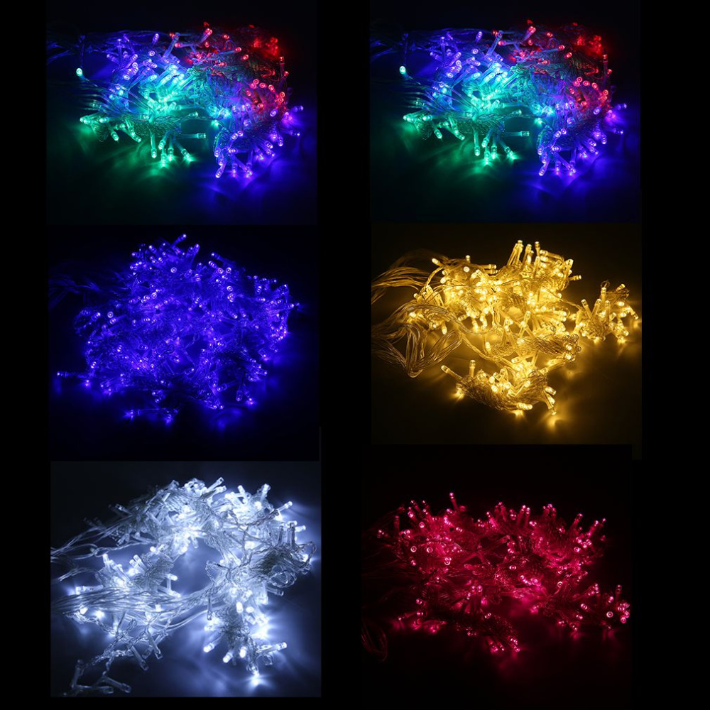 9.8ft x 6.6ft 224 LEDs 220V String Fairy Curtain Light Christmas Wedding Lights Indoor Outdoor Decor Lighting 5Color EU Plug