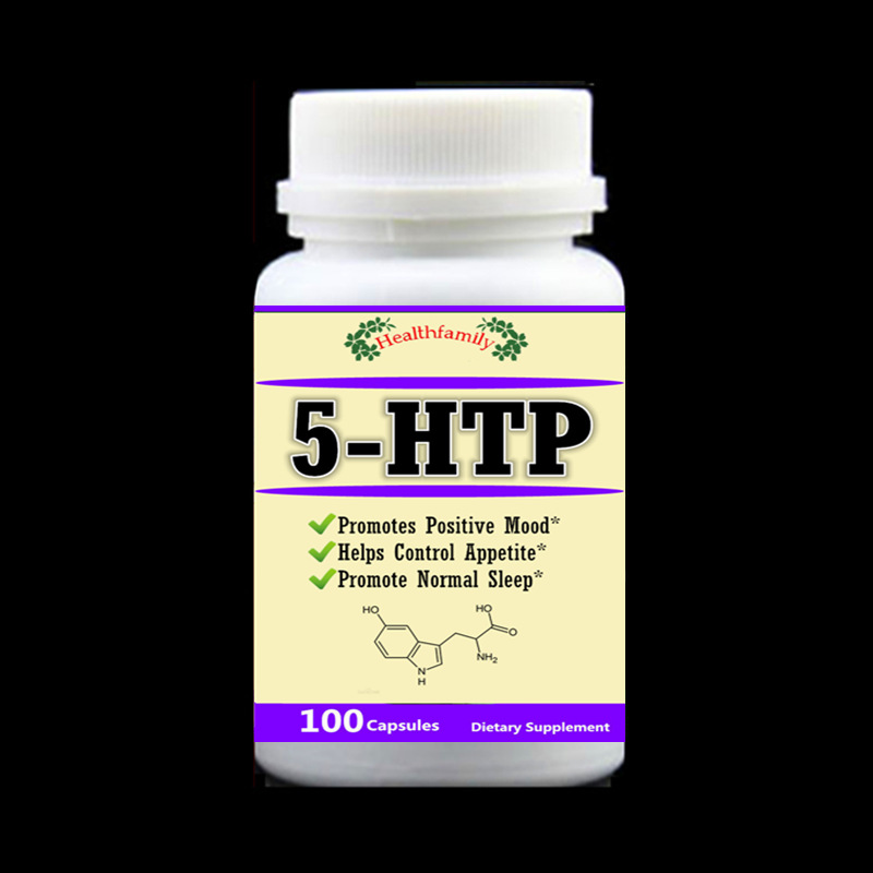 5-HTP Capsule 400mg x 100pcs Powerful Promotes Reduce Stress Positive Mood Helps Control Appetite Promote Normal Sleep Aid 5HTP