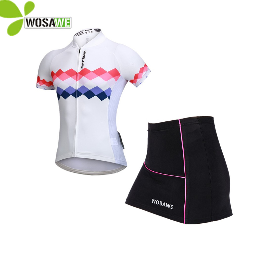 WOSAWE Womens Sports suit Bike Cycling Jersey Sets summer Ciclismo Bicycle Bicicleta Maillot Mtb Clothing Racing mtb clothes wosawe cycling coat bike bicycle cycle clothing long jersey jacket wind tights pants whirlwind waterproof cycling jersey 2017