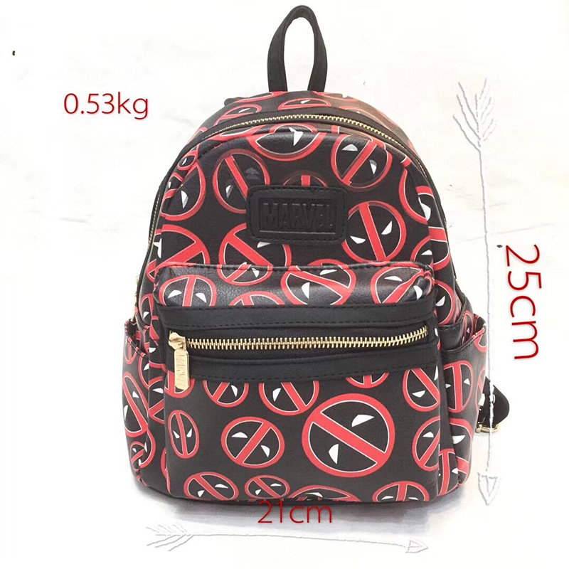Anime Wonder Woman Super Girl Backpack for Teenager Star Wars Batman Deadpool Marvel DC Avengers Leather Schoolbag Kids Mini Ba