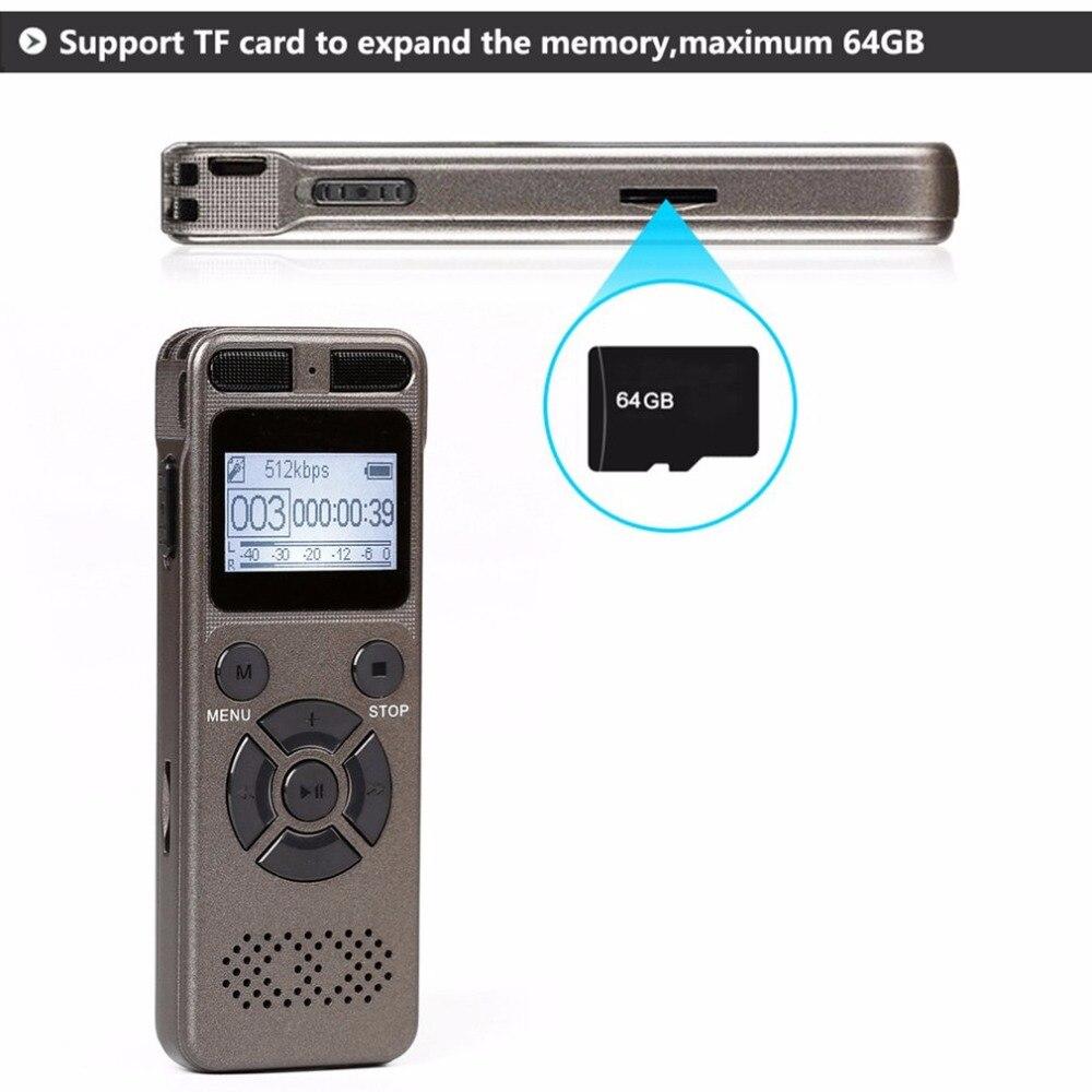 Mini enregistreur vocal numérique Portable avec Microphone carte d'extension TF maximale de 64 go pour toute Occasion enregistrement en WAV/Mp3 - 5