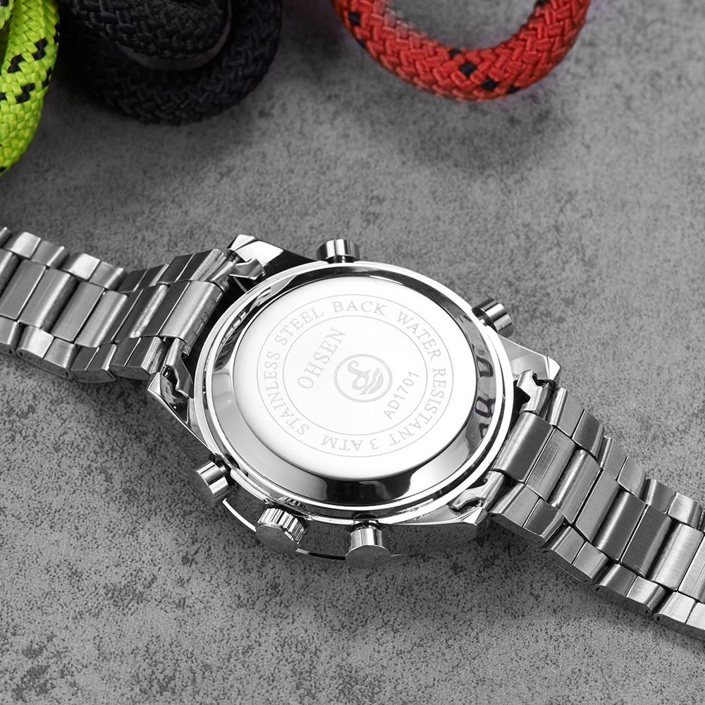 Top Sale Mode OHSEN Merk Sport Digitale Quartz Horloge Militaire Dual - Herenhorloges - Foto 6