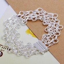 2016 Hot Silver Color Jewelry bracelet, silver plated wristlet vintage-accessories Web Ladder Bracelet /RDFNQQQY WSTYYCKFI