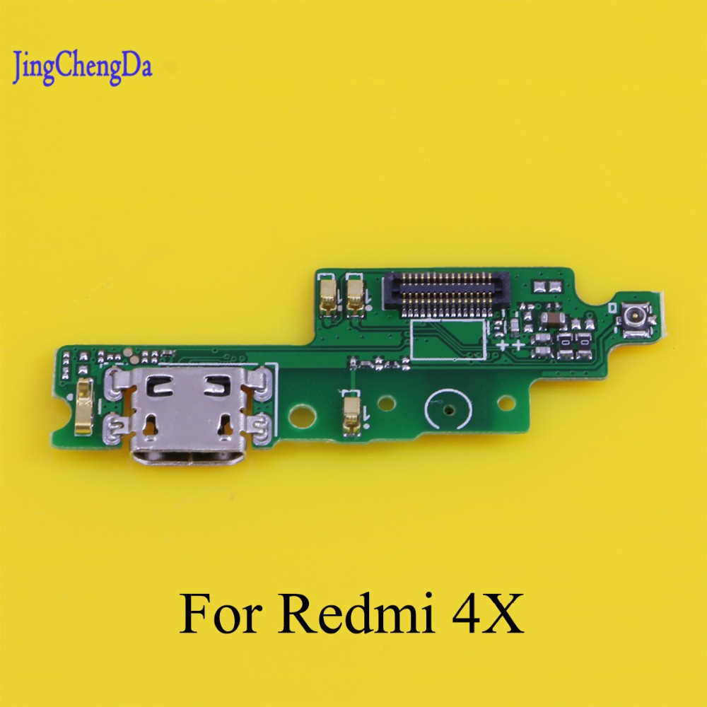 JCD Brand New For Xiaomi Redmi 4X Cell Phone USB Plug Charging Charge Port Dock Connector Flex Cable Replacement Parts