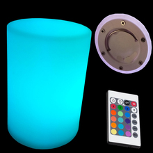 2018 New D10*H15cm 16 Colorful Cylinder Night Light Rechargeable Hanging Flashlight with Remote Control free shipping 1pc