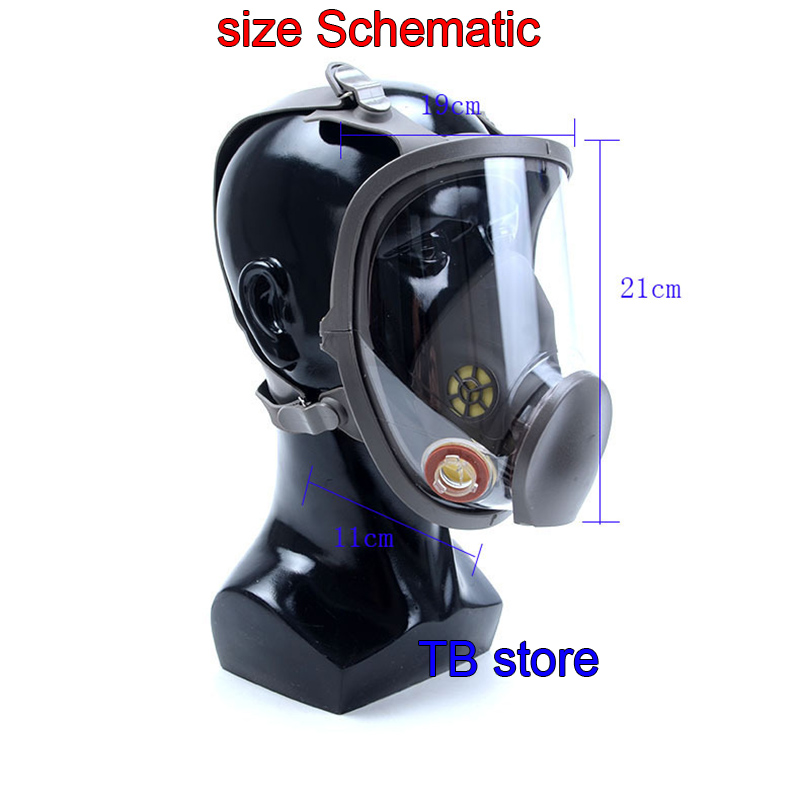 Image 4 - 6800 Gas mask high quality Full face respirator Spray paint pesticide  protective mask Can cooperate with 3M / SJL filter-in Masks from Security & Protection