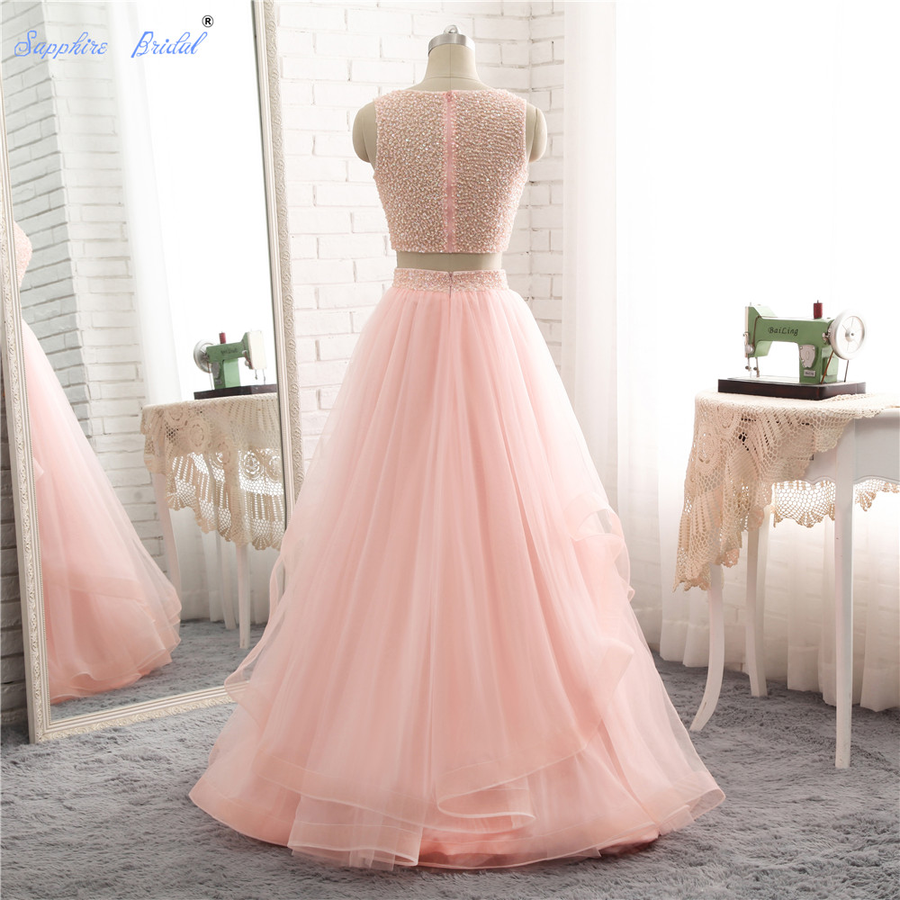 Sapphire Bridal New Arrival 2018 Two Pieces Pink Wedding Dress ...