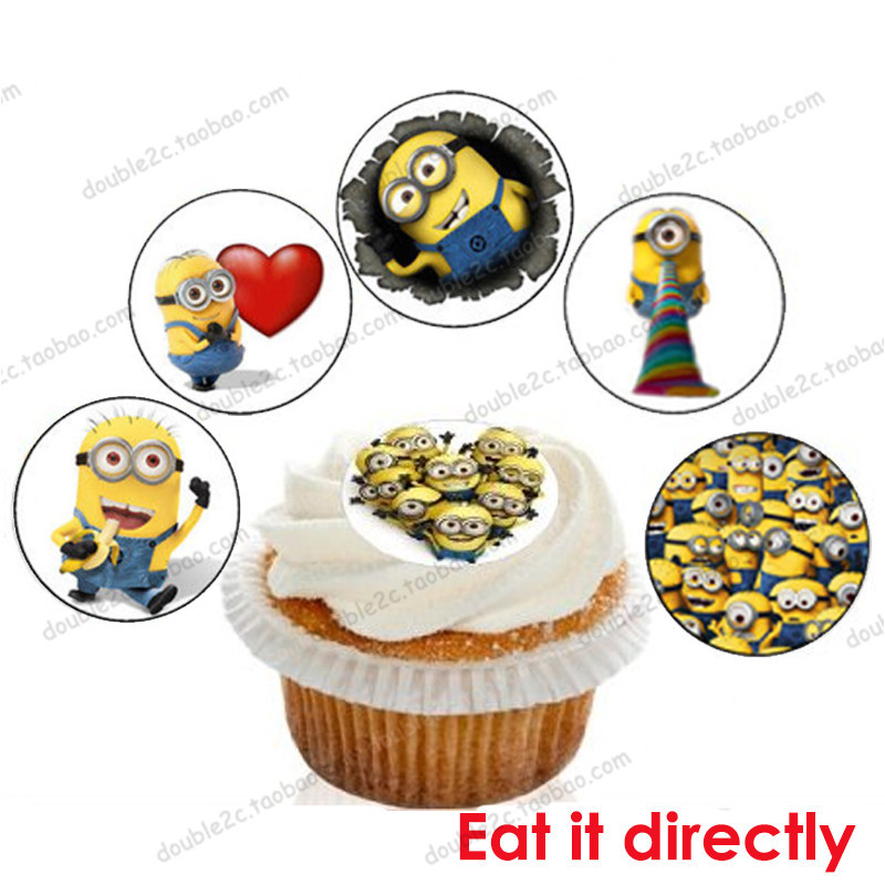 Wafer paper for cup cake topper minionminions decoration birthday