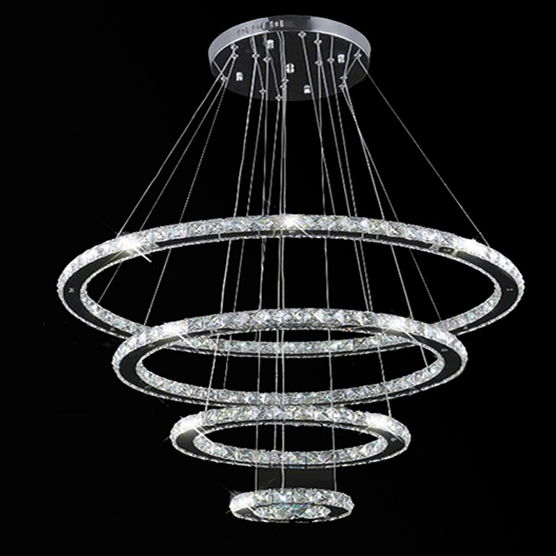 Aliexpress buy vallkin modern led ring chandelier pendant for Modern hanging pendant lights