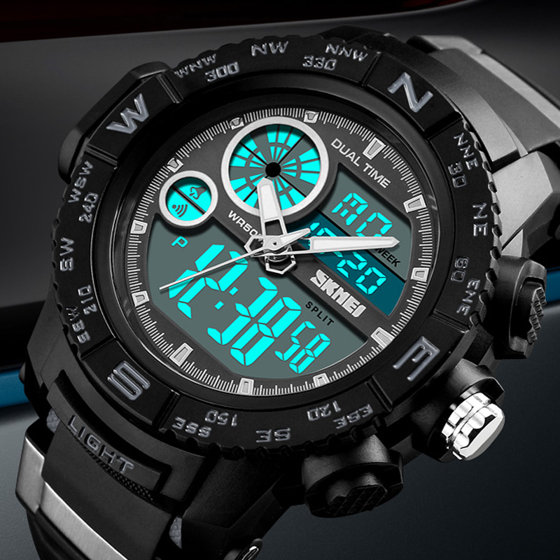 50M Waterproof Mens Sports Watches Relogio Masculino 2018 Hot Men Silicone Sport Watch Reloj S Shockproof Electronic Wristwatch50M Waterproof Mens Sports Watches Relogio Masculino 2018 Hot Men Silicone Sport Watch Reloj S Shockproof Electronic Wristwatch