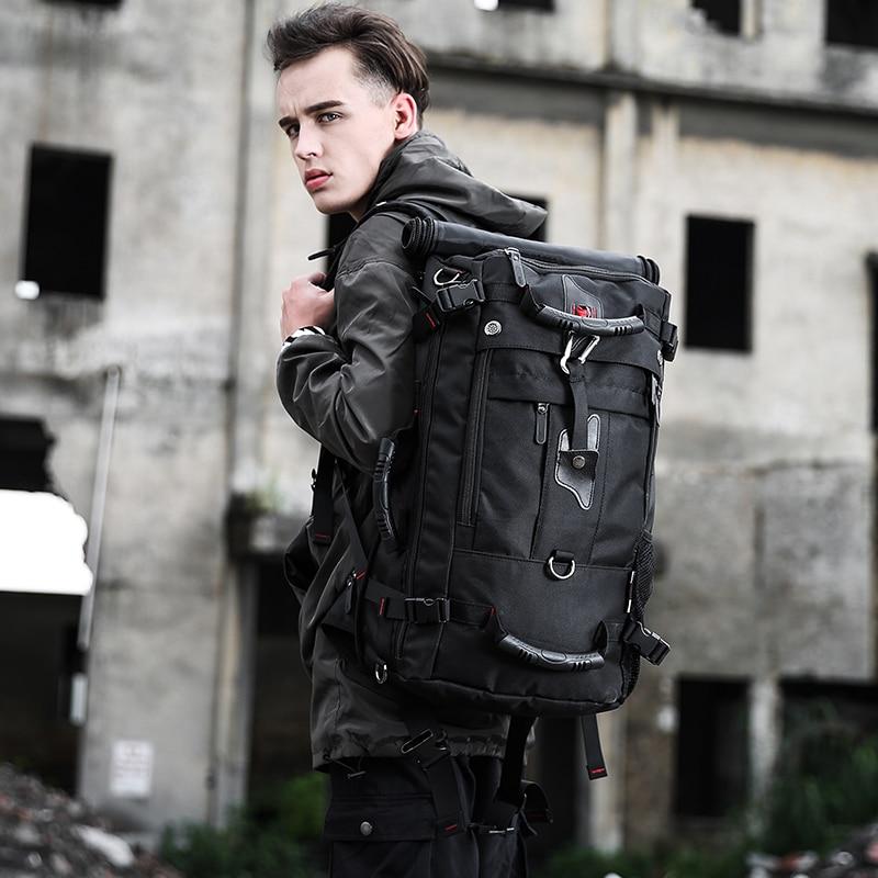 50L haute capacité qualité Oxford étanche sac à dos pour ordinateur portable multifonctionnel mochila sac d'école en plein air randonnée voyage bagages sac - 2