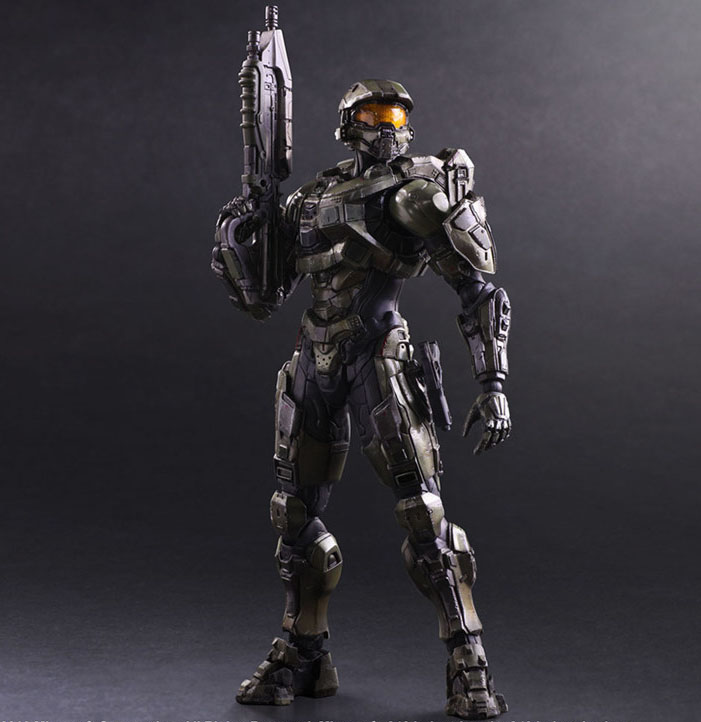 Free Shipping Cool 10 PA KAI Game Halo 5 Guardians Master Chief Boxed 25cm PVC Action Figure Collection Model Doll Toy
